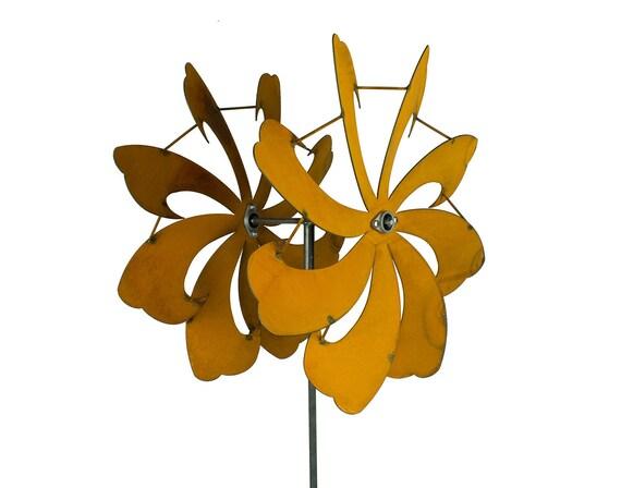 Genial Dual Blade Garden Wind Spinner Metal Kinetic Wind Sculpture | Etsy