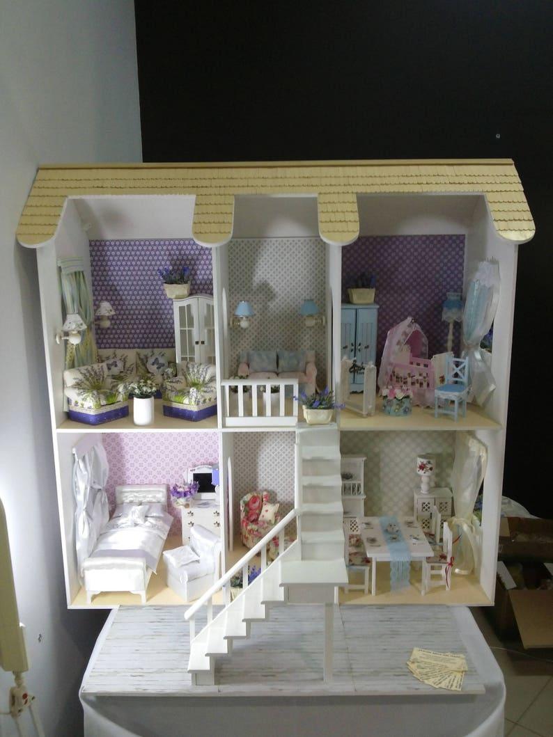 Barbie Wohnzimmer Möbel | Puppenhaus Barbie Puppe Haus Puppenhaus Etsy