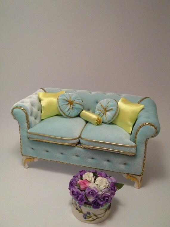 Puppenhaus Sofa/12 \'\' Puppe Möbel/Wohnzimmer | Etsy