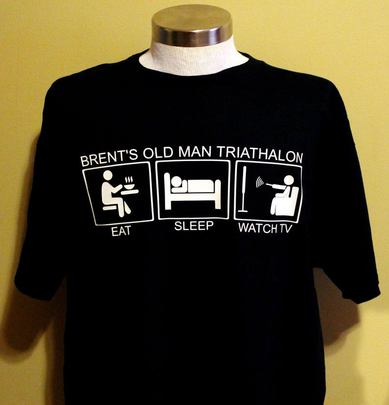 f75b4b17a0 Old Man Triathlon T-Shirt Gift for Dad Gift for Grandpa Old   Etsy