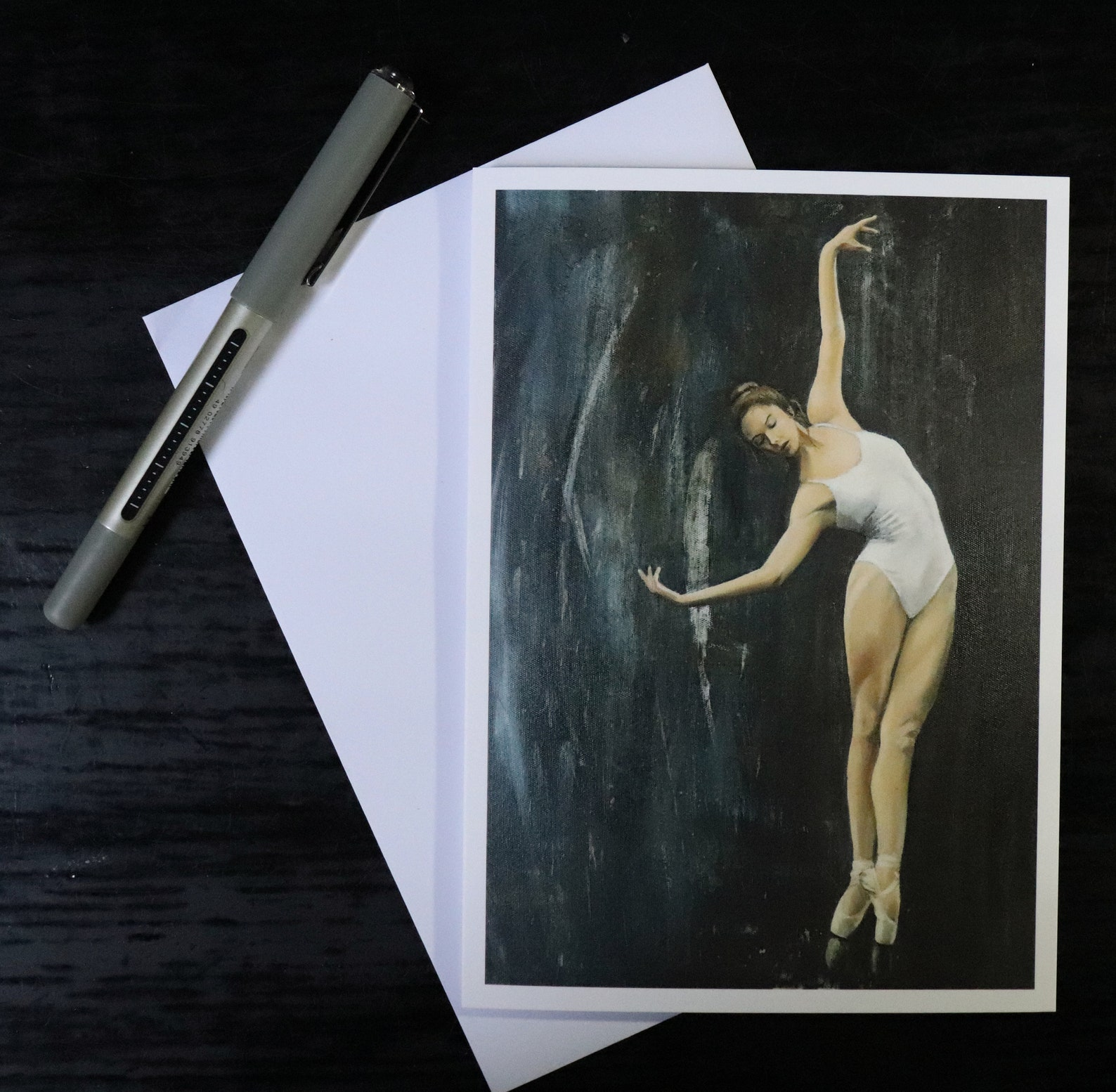 ballet greeting cards, pack of 5, different designs, ballerina / dance / artwork print / birthday cards / painting art prints by