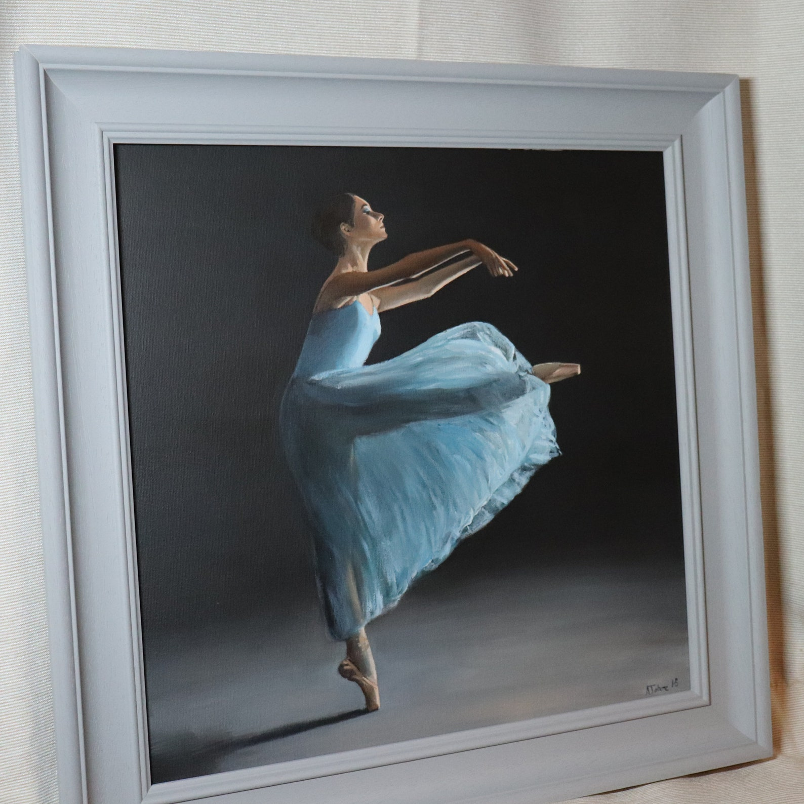 movement, portrait of a dancer, ballet, ballerina, young woman painting, original artwork, not print, nutcracker