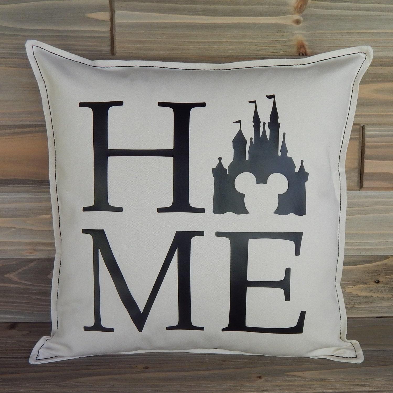 Disney inspired pillow cover 16x16 disney home decor disney world disney pillow cover disney gift cinderellas castle throw pillow