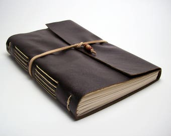 Large Faux Leather Journal or Sketchbook - Brown