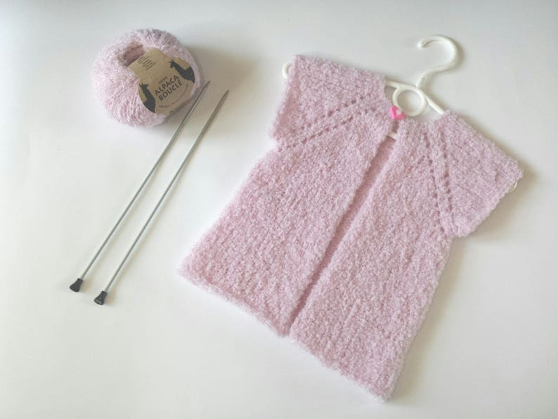b552325f7 Pink baby girl vest knit toddler vest baby girl vest knit