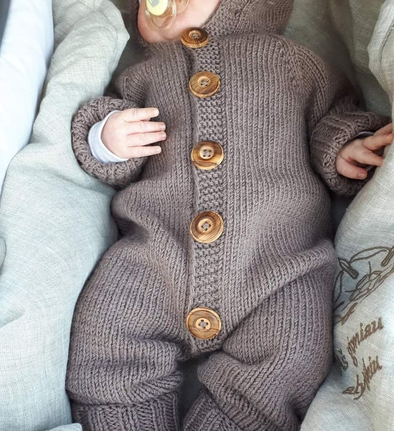 6ca981d78668 Baby Overalls Hooded Baby Overalls Knit Knit Baby Boy
