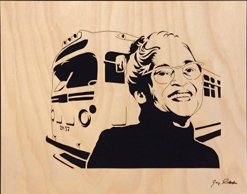Rosa Parks Portrait Inspiration Portrait by Jay image 1