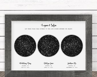 Astronomy Gifts for Men Custom Star Map Poster Personalized Valentines Day Gift Custom Constellation Art Unique Anniversary Gift for Women