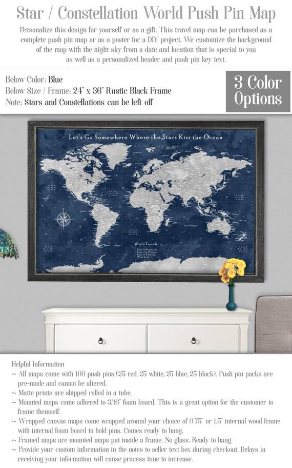 World Map X World Map X World Map Vintage Canvas World Etsy - 36 x 48 world map