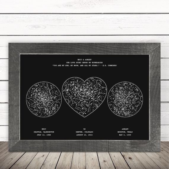 Gift For Boyfriend From Girlfriend To Him Christmas Men Birthday Husband Anniversary Personalize Night Sky Valentine's Day Love Relationship by Etsy