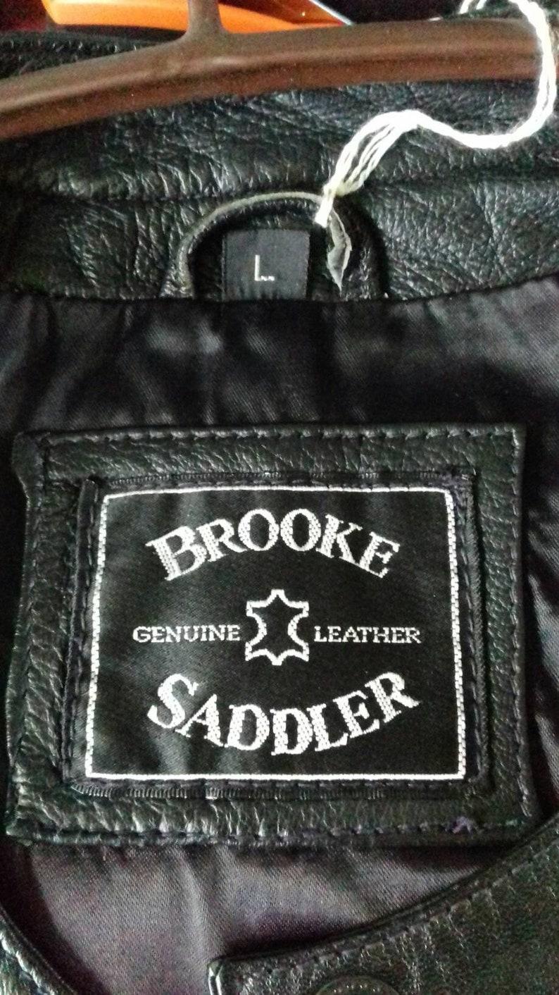 c9ee1113c Vintage 1980's soft black real leather, fully lined skirt suit by Brooke  Sadler. Good condition, hardly worn. Size large.