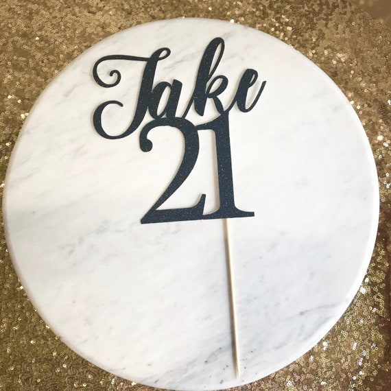 21st Birthday Cake Topper Glitter Name And Age