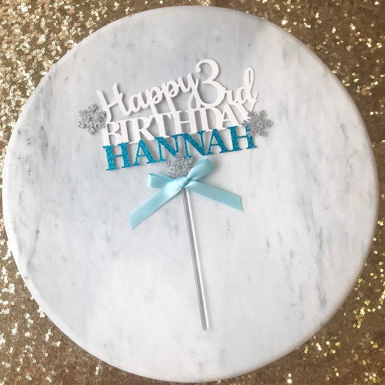 Phenomenal Winter Theme Cake Topper Birthday Cake Topper Glitter Cake Etsy Funny Birthday Cards Online Elaedamsfinfo