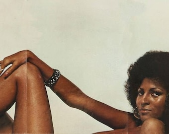 PAM GRIER CENTERFOLD pics from Players Magazine Vol 1 No 3, 1974 photo shoot - Digital files Only - Magazine is Sold Out and not available