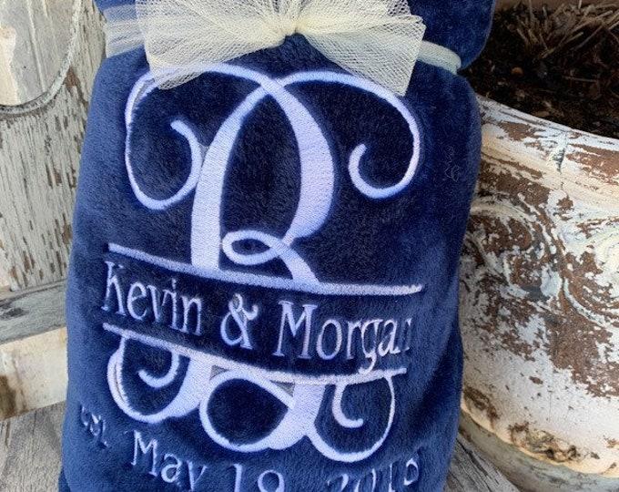 Wedding / Anniversary Minky Blanket