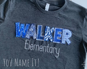 Applique School Name tee