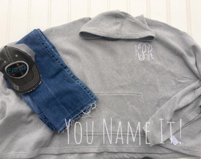 Sweatshirt Monogrammed Poncho