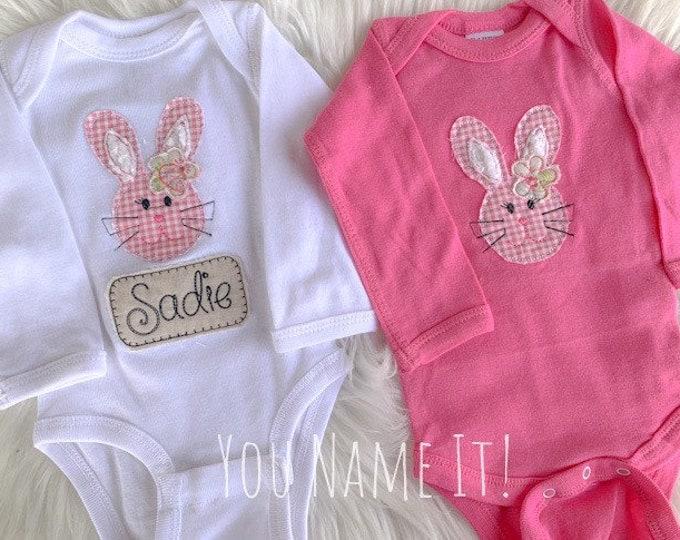 Easter Bunny Applique Onesie or Tee Shirt