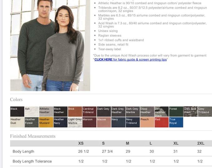 Upgrade - Bella Canvas Sponge Fleece Sweatshirt