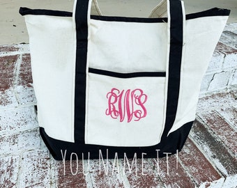 HEAVY Canvas Boat Tote