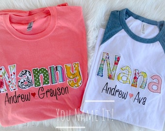 Grandmother Name Applique Design