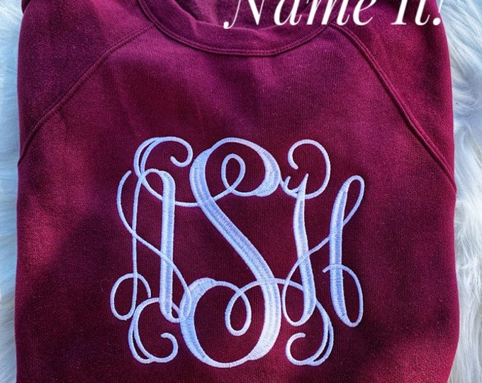 Large Center Monogram Sweatshirt