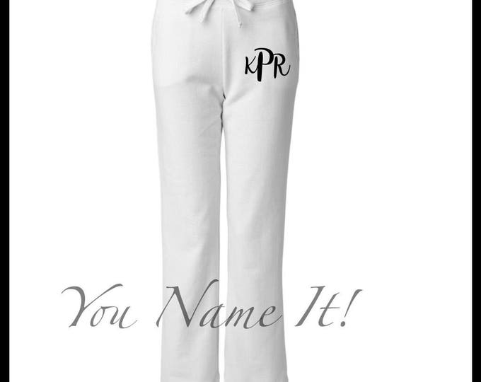 Womens Monogrammed Sweatpants