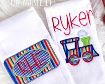 APPLIQUE (Fabric) Burp Cloth Set