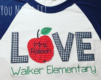 Teacher LOVE Applique Design