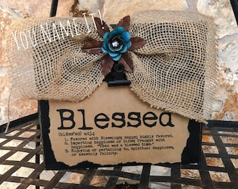 "Memo Clip Board - ""Blessed"""