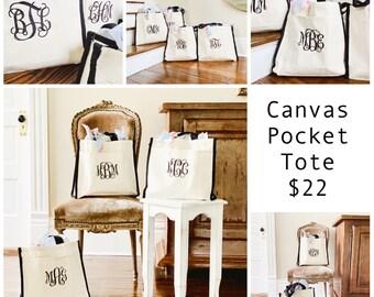 Canvas Pocket Tote