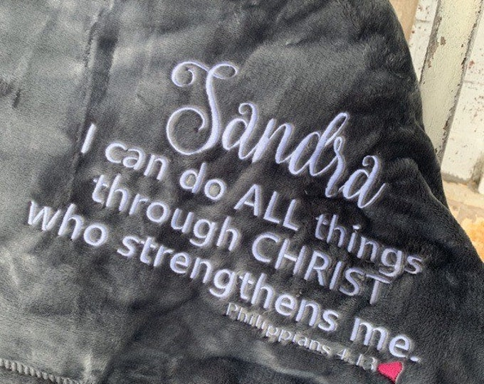 I Can Do All Things Through Christ Blanket