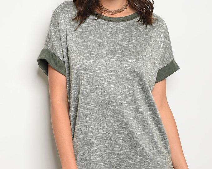 Olive Tee Shirt Dress