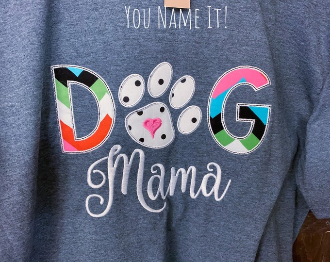 Dog Mama Applique Design