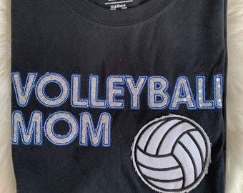 SAMPLE VOLLEYBALL MOM tee shirt - Large Size