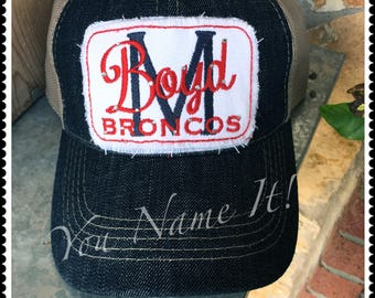 School Denim Trucker Cap - Customize!