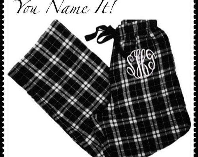 Monogrammed Pajama Pants, Adult