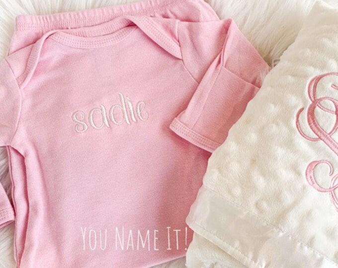 Newborn Layette Monogrammed Gown