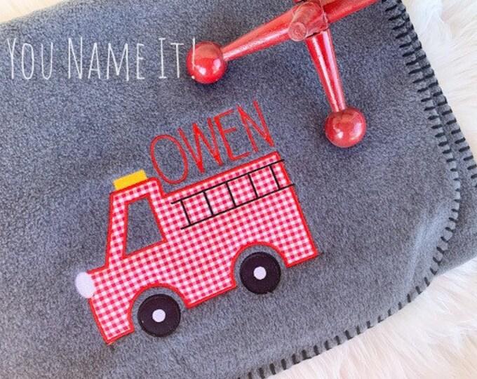Applique (Fabric Design) Fleece or Sweatshirt Blanket | Kid Blanket Personalized
