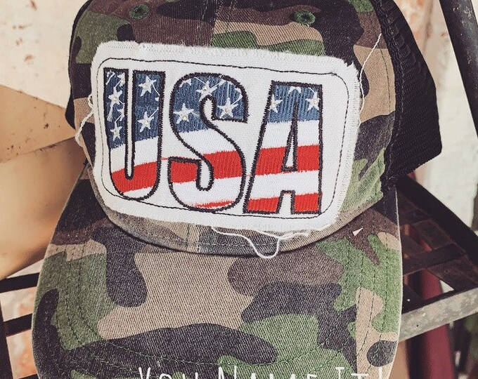 USA Camo Trucker Hat
