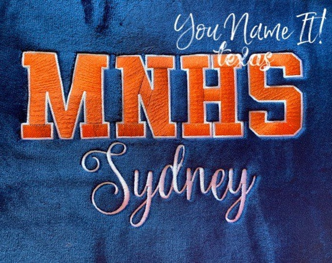 Personalized Athletic Font Blanket