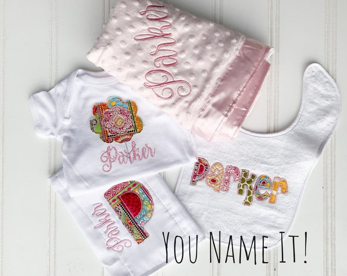 Applique Name Gift Set