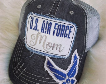 US Air Force Mom Trucker Hat