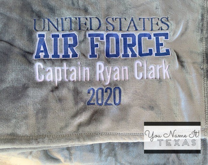 United States Air Force Personalized Blanket