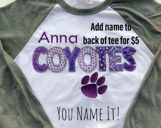 Anna Coyotes Tee