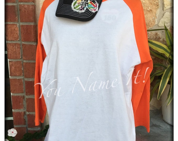 Bottom Monogrammed Raglan Tee