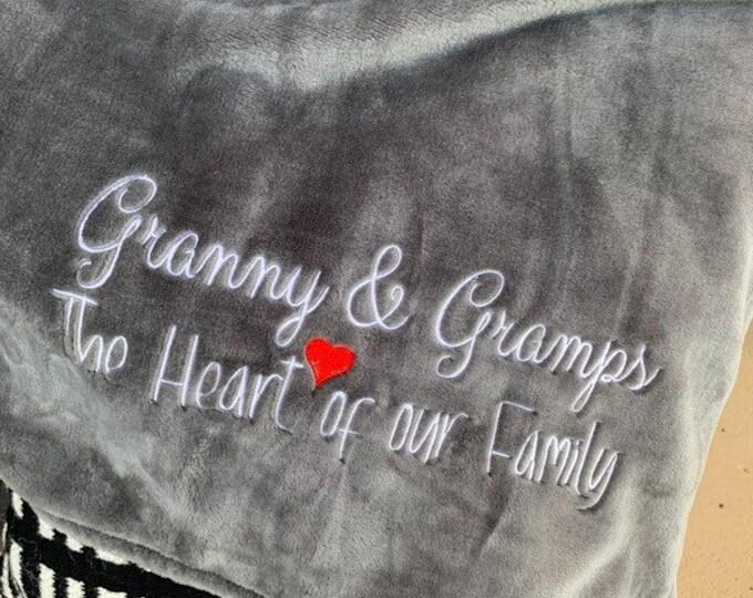 Grandparents Heart of the Family Blanket