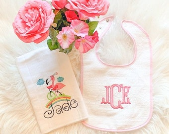 Bib and Burp Gift Set