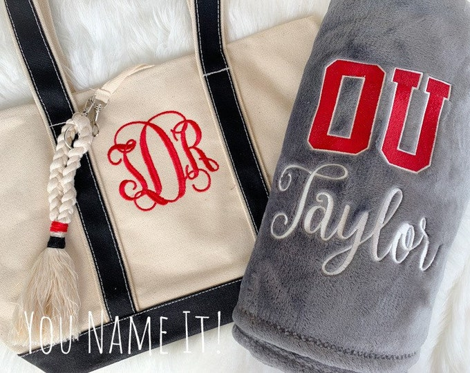 College Bound Blanket, Tote and Keyfob Set