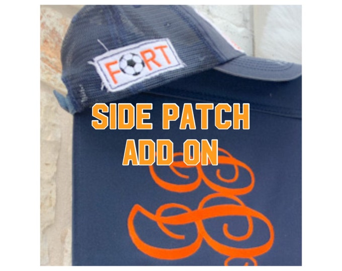 Hat Side Patch Add-on with Sport Ball